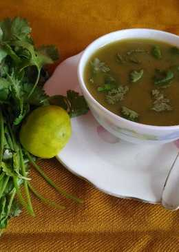 Coriander and lemon soup