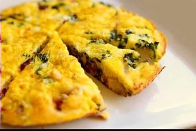 Spinach & Chicken Frittata