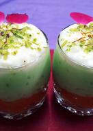 Carrot Halwa and Sago Pista Kheer Trifle Pudding