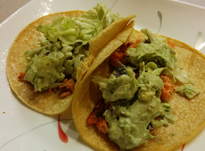 Dry-Rubbed Salmon Tacos