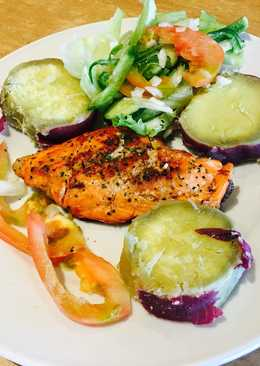 Salmon and sweet potato