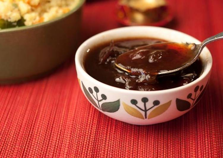 #perfect combo: Jaggery-Dry Red Chilli-Tamarind Chutney