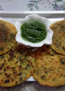 Besan & Rava methi pancake