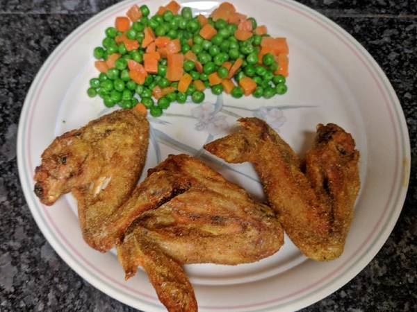 Dry Curry Wings