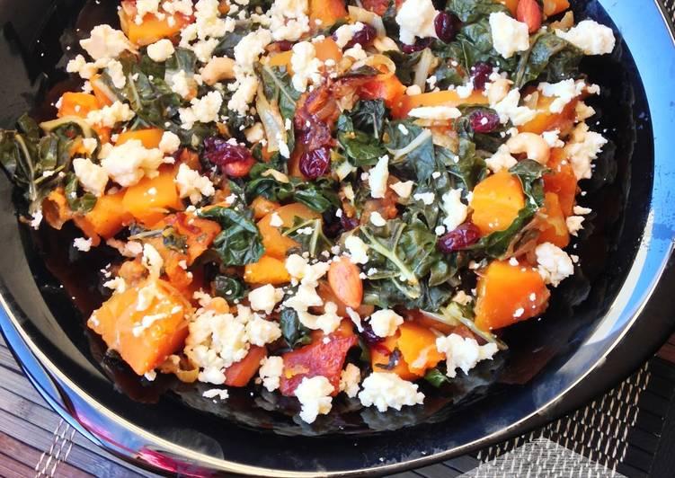 Kale & Butternut Squash Recipe by Beula Pandian Thomas ...