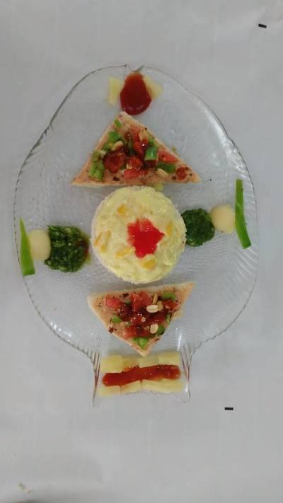 Bellpepper & pineapple chatpata salad