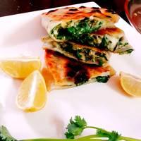 Eggless Gozleme (Turkish stuffed flat bread)