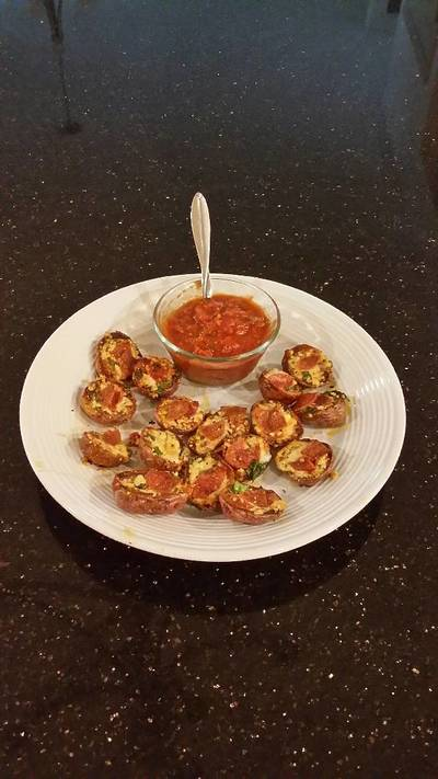 Pizza Potato Skin Bites
