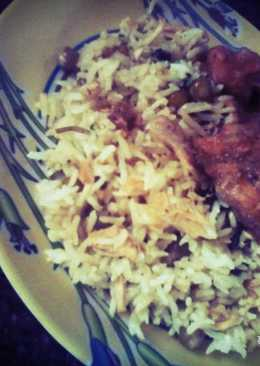 Pulao with Curshed Chicken & Peas