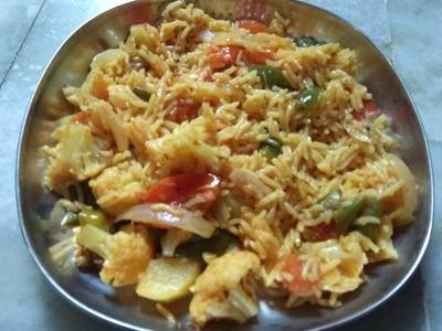 Vegetable rice one pot meal