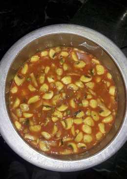 Mushroom peas and potato curry