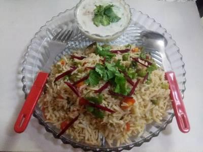 Brown rice veg pulao