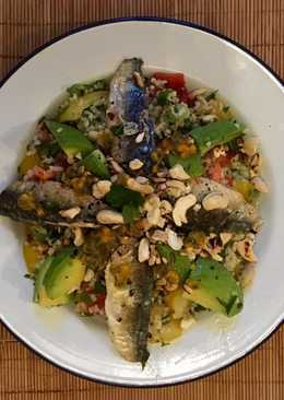 Fresh sardines with Tabbouleh Salad