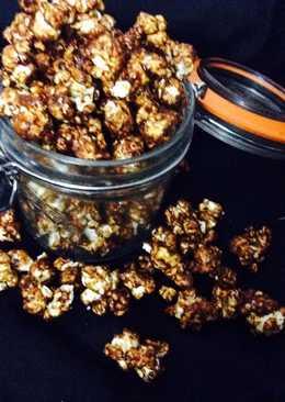 Jaggery caramelised popcorn