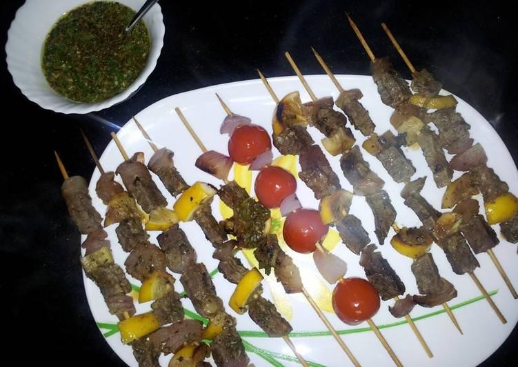Mojo Beef Kebabs