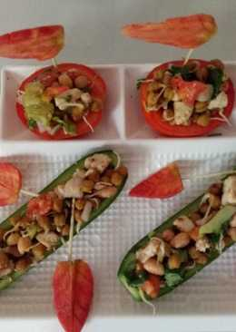 Protein enriched boat salad
