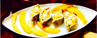 Mango cream stuffed Paneer boats...#Dussehra