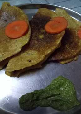 Healthy veg pancakes