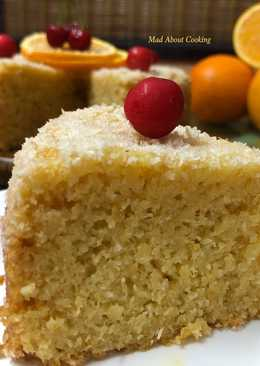 Eggless Coconut Orange Cake