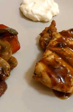 resep masakan grilled chicken breasts with barbeque sauce