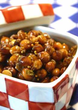 Dry-Roasted Soy Beans Pickled in Balsamic Vinegar