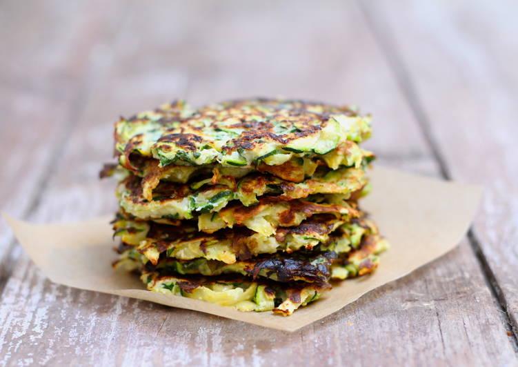 Zucchini + sweet potato fritters