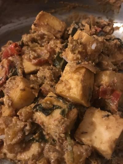 Mango paneer curry