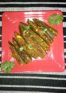 Bharwa (stuffed) bhindi