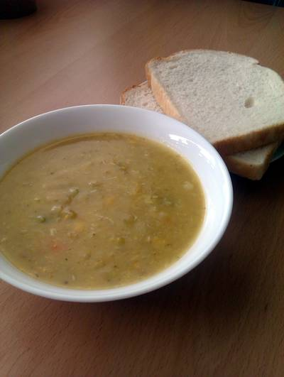 Vickys Creamy Chicken & Vegetable Soup with Vegan Option