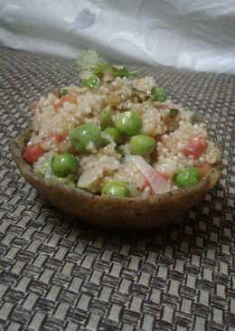 Finger millet katori with vegetable samak rice