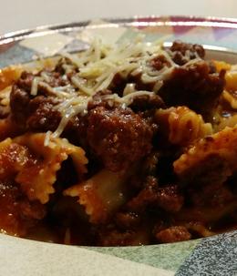Kangaroo, Italian Sausage, and Beef Pasta Bolognese