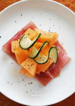 Cantaloupe Melon With Prosciutto And Cucumber
