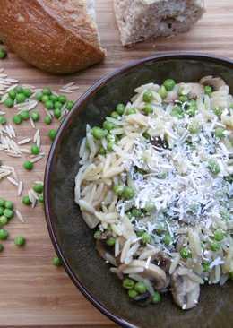 Mushroom, Orzo, and Pea Salad