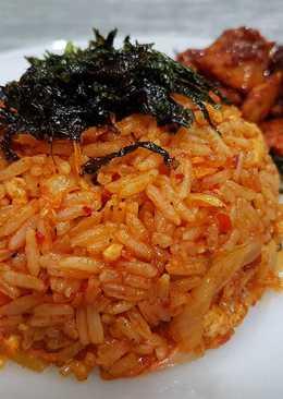 Student Meal; Kim Chi Fried Rice (Kimchi Bokkeumbap)