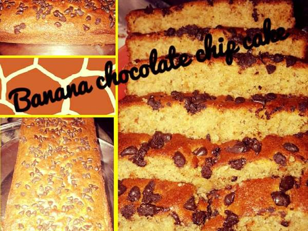 Banana chocolate chip cake