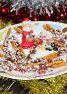 Candy Cane Chocolate Dipped Pretzel Sticks