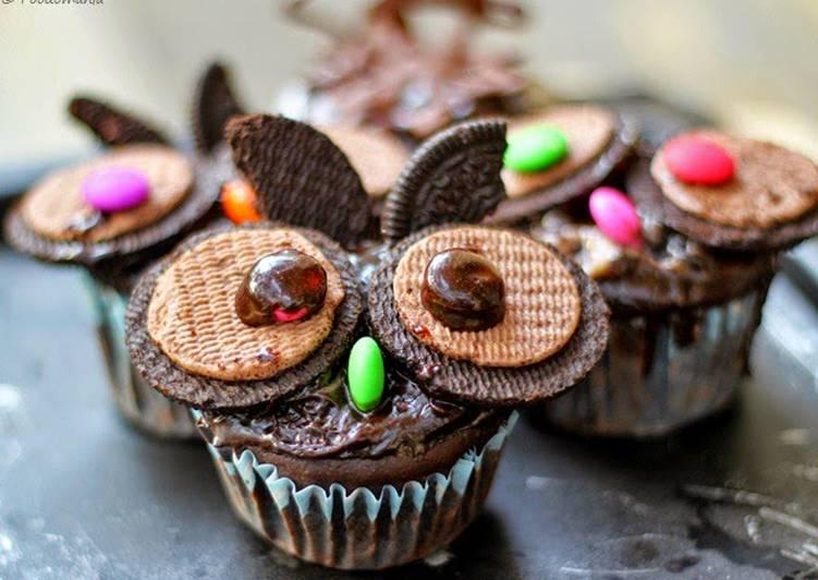 Oreo Owl Cupcakes Recipe by Foodomania Cookpad