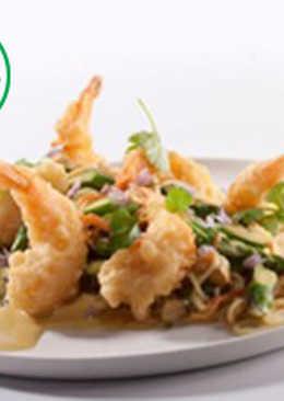Pasta Tempura Shrimps by Orien Bites