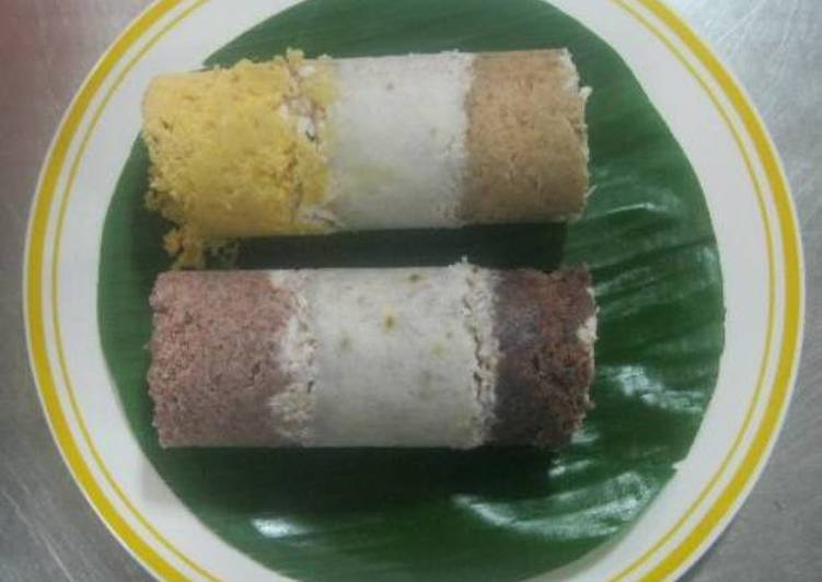 Mix Puttu(Colored Steamed Cake)