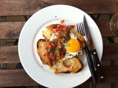 Bruschetta Sourdough with Egg