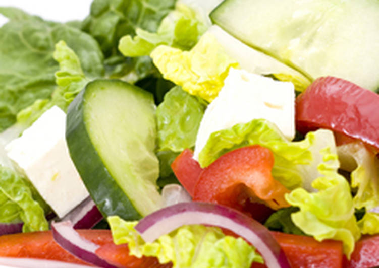 Light Lettuce And Feta Cheese Salad