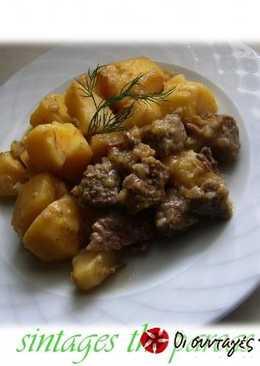 Beef with lemon sauce