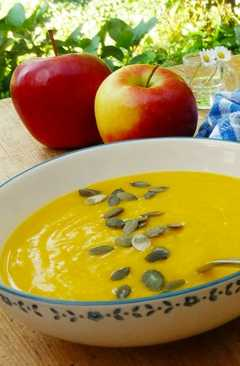 resep masakan pumpkin soup with apples