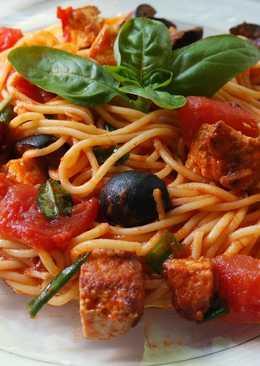 resep masakan homemade spaghetti with tofu