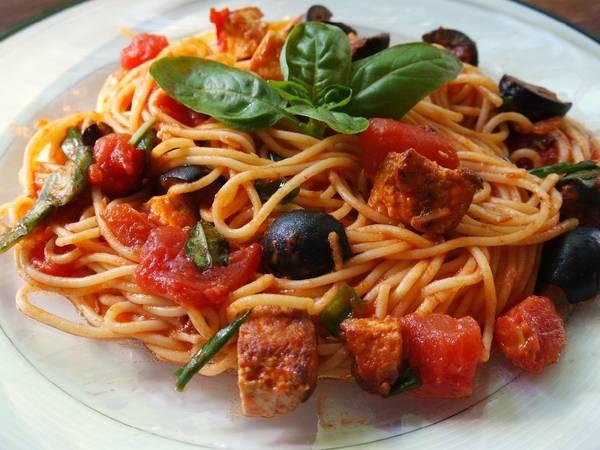 Homemade Spaghetti with Tofu
