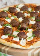 Spaghetti and Meatball Pizza