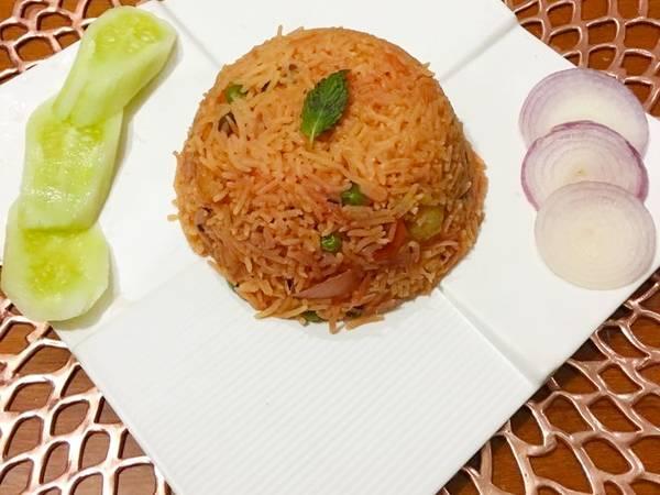 Beetroot vegetable pulao