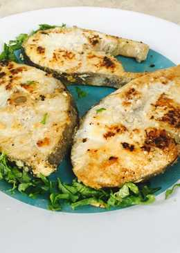 Grilled tuna fish tails