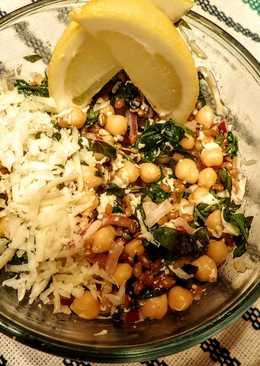 Lemon Basil Winter Wheat Chickpea Salad