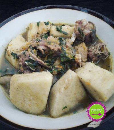 Goat meat, stock fish and yam pepper soup